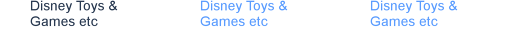 Disney Toys & Games etc